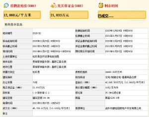 碧桂園4.57億元競得南通市如東縣一宗住宅用地 溢價率8.71%