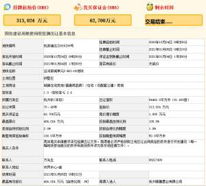 萬科40.6億元競得杭州市拱墅區一宗住宅用地 溢價率29.71%