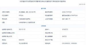 北京通州文化旅遊區環球影城3.27億元掛牌1宗地塊