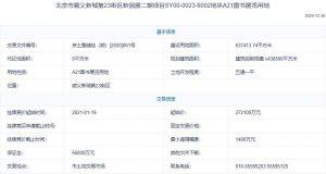 北京85.14億元掛牌3宗地塊