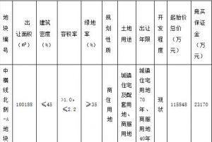 中交地產17.33億元競得寧波1宗商住用地 溢價率49.63%_家具訂製工廠推薦
